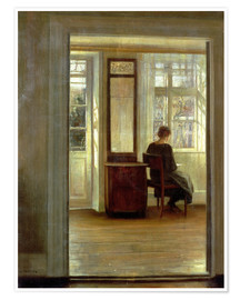 Premiumposter Lady in an interior