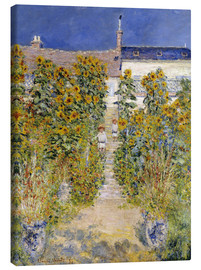 Canvastavla  The Artist's Garden at Vetheuil - Claude Monet