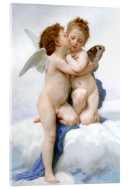 Akrylglastavla  The First Kiss - William Adolphe Bouguereau