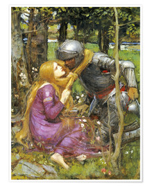 Premiumposter  A study for La Belle Dame sans Merci - John William Waterhouse