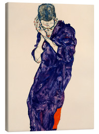 Canvastavla  Young Man In Purple Robe - Egon Schiele