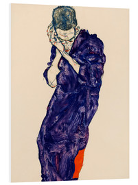 PVC-tavla  Young Man In Purple Robe - Egon Schiele