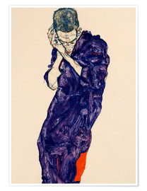 Premiumposter  Young Man In Purple Robe - Egon Schiele