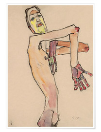 Premiumposter  Nude with crossed arms - Egon Schiele