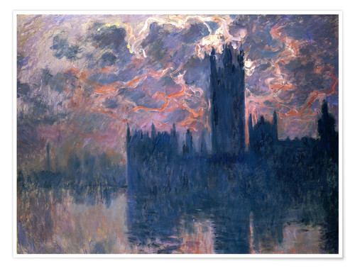 Premiumposter Houses of Parliament, Sunset