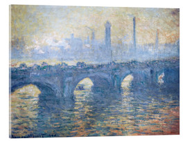Akrylglastavla  River Thames in London, Waterloo Bridge - Claude Monet
