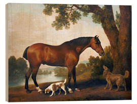 Trätavla  Horse and two dogs - George Stubbs