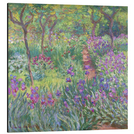 Aluminiumtavla  The Iris Garden At Giverny - Claude Monet