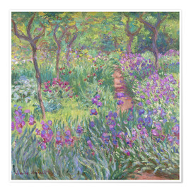 Premiumposter  The Iris Garden At Giverny - Claude Monet