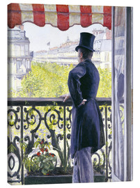 Canvastavla  Man on a balcony - Gustave Caillebotte