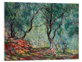 Akrylglastavla  The Olive Tree Wood In The Moreno Garden - Claude Monet