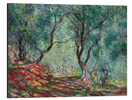 Aluminiumtavla  The Olive Tree Wood In The Moreno Garden - Claude Monet
