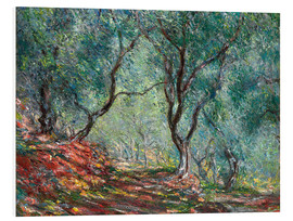PVC-tavla  The Olive Tree Wood In The Moreno Garden - Claude Monet