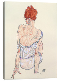 Canvastavla  Female back - Egon Schiele