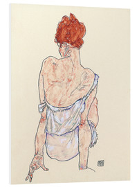PVC-tavla  Female back - Egon Schiele
