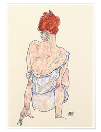 Premiumposter  Female back - Egon Schiele