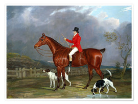 Premiumposter A Huntsman and Hounds, 1824
