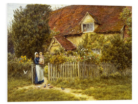 PVC-tavla  Mother and child on lodge - Helen Allingham