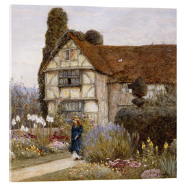 Akrylglastavla  Old Manor House - Helen Allingham