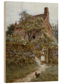 Trätavla  The Black Kitten - Helen Allingham