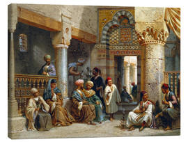 Canvastavla  Arabic Figures in a Coffee House - Carl Friedrich Heinrich Werner