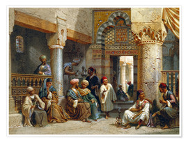 Premiumposter Arabic Figures in a Coffee House