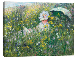 Canvastavla  In the Meadow - Claude Monet
