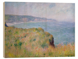 Trätavla  Edge of the Cliff, Pourville - Claude Monet