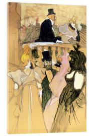 Akrylglastavla  At the Opera Ball - Henri de Toulouse-Lautrec