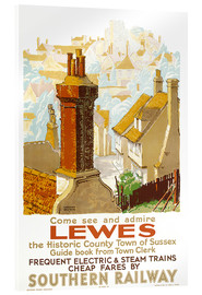 Akrylglastavla  Come see and admire Lewes - Gregory Brown