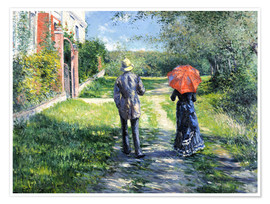 Premiumposter  The Path Uphill - Gustave Caillebotte