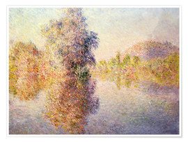 Premiumposter  Early Morning on the Seine at Giverny - Claude Monet