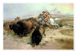 Premiumposter  Buffalo Hunt, 1897 - Charles Marion Russell