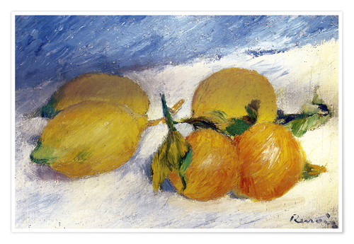 Premiumposter Still Life with Lemons and Oranges