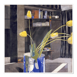 Premiumposter  Yellow Tulips - Charles Rennie Mackintosh