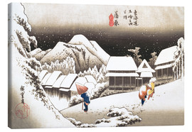 Canvastavla  Evening Snow at Kanbara - Utagawa Hiroshige