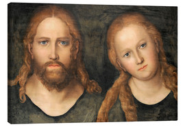 Canvastavla  Christ and Mary Magdalene - Lucas Cranach d.Ä.