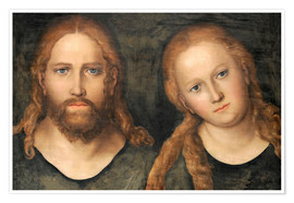 Premiumposter Christ and Mary Magdalene