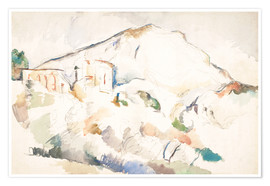 Premiumposter  The Château Noir and Sainte-Victoire mountains - Paul Cézanne