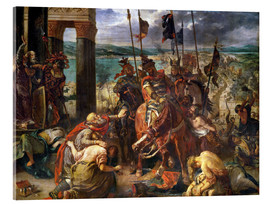 Akrylglastavla  The conquest of Constantinople by the crusaders - Eugene Delacroix