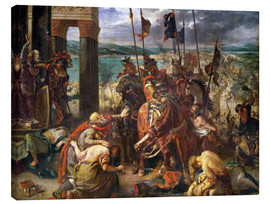 Canvastavla  The conquest of Constantinople by the crusaders - Eugene Delacroix