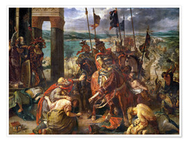 Premiumposter  The conquest of Constantinople by the crusaders - Eugene Delacroix