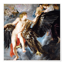 Premiumposter  Abduction of Ganymede - Peter Paul Rubens