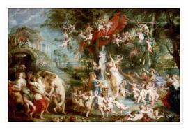 Premiumposter  The Feast of Venus - Peter Paul Rubens