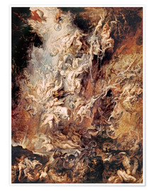 Premiumposter  Änglarnas fall - Peter Paul Rubens