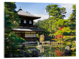Akrylglastavla  Ginkakuji Temple - Jan Christopher Becke