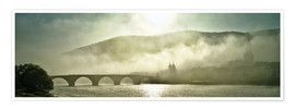 Premiumposter  Heidelberg in fog with old bridge - Jan Christopher Becke