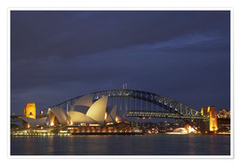 Premiumposter Sydney Opera and Harbor Bridge