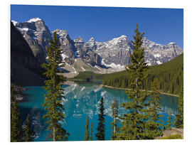 PVC-tavla  Lake in front of the Canadian Rockies - Paul Thompson