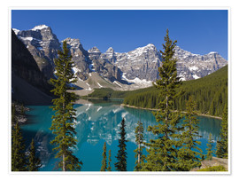 Premiumposter  Lake in front of the Canadian Rockies - Paul Thompson